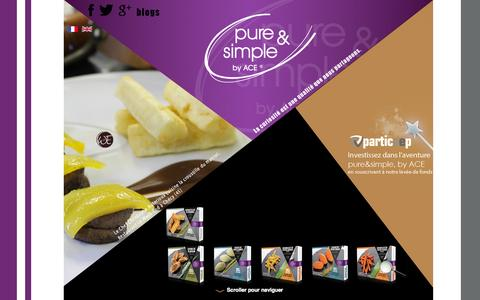 Screenshot of Home Page by-ace.com - ACE International Foods - captured Oct. 4, 2014