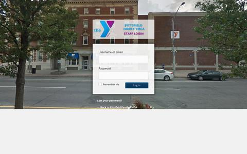 Screenshot of Login Page berkshirefamilyymca.org - Pittsfield Family YMCA ‹ Log In - captured July 13, 2016