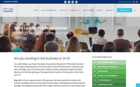 Screenshot of Team Page imparta.com - Sales Leadership Programme - Imparta - captured Nov. 6, 2018