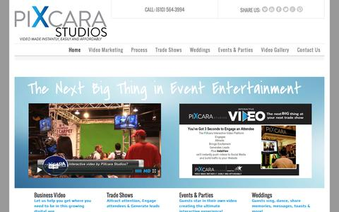 Screenshot of Home Page pixcarastudios.com - Studios & Event Home Page - captured Jan. 25, 2015