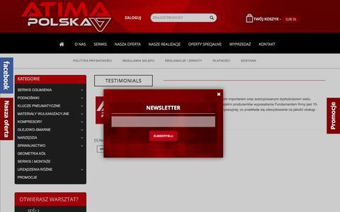 Screenshot of Testimonials Page atimapolska.pl - testimonials - My e-commerce - captured May 27, 2016