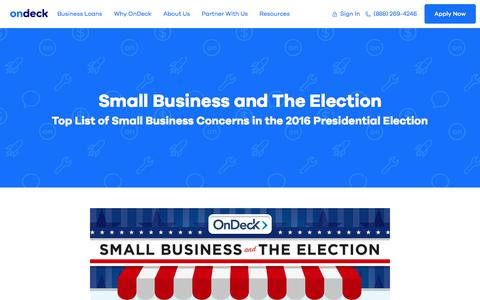 Small Business and the 2016 Election | OnDeck Capital