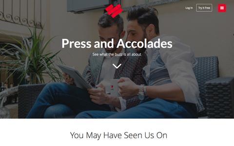 Screenshot of Press Page datingring.com - Home : The Dating Ring - captured Nov. 18, 2015