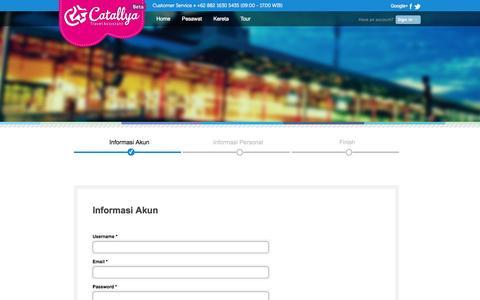 Screenshot of Signup Page catallya.com - Cari Tiket Pesawat Murah - Tiket Promo | Catallya.com - captured Sept. 19, 2014