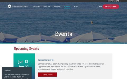 Events – Crimson Hexagon