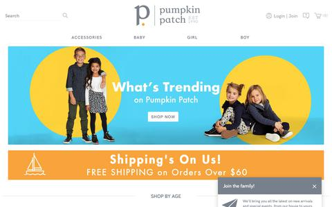 Screenshot of Home Page pumpkinpatch.co.nz - Shop Kids' & Baby Clothing and Accessories | Pumpkin Patch New Zealand - captured July 24, 2018