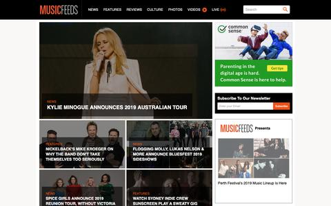 Screenshot of Home Page musicfeeds.com.au - Covering Australia's Indie Music Scene and Beyond - Music News, Reviews, Interviews and Culture - Music Feeds - captured Nov. 8, 2018