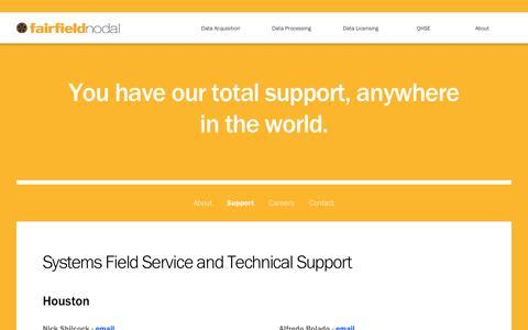 Screenshot of Support Page fairfieldnodal.com - Support - FairfieldNodal - captured June 5, 2017