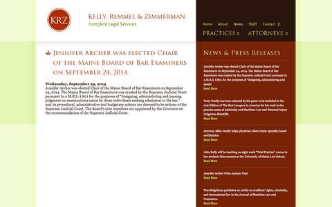 Screenshot of Press Page krz.com - KRZ: News - captured Oct. 6, 2014