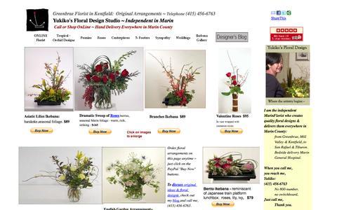 Screenshot of Home Page neibert.com - Greenbrae Florist:  Original Arrangements by Independent Designer - captured Jan. 26, 2015