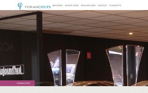 Screenshot of Site Map Page formacoupe.fr - Plan du site - D�coupe plexi - captured Jan. 8, 2016