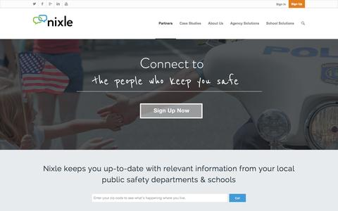 Screenshot of Case Studies Page nixle.com - Nixle | Building Stronger Communities Together - captured Oct. 28, 2014