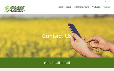 Screenshot of Contact Page gotogss.com - Contact – Global Soil Solutions - captured Aug. 14, 2017