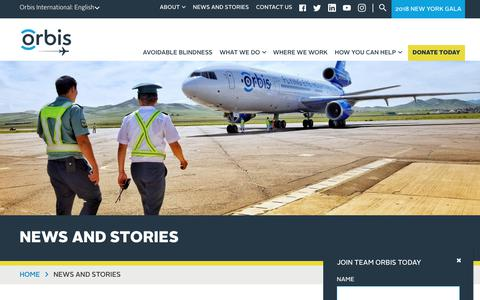 Screenshot of Press Page orbis.org - News and Stories   Orbis - captured Sept. 24, 2018