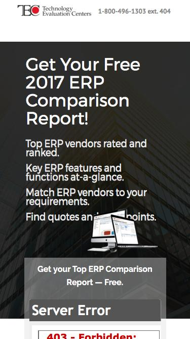 Compare top ERP systems