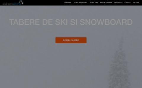 Screenshot of Home Page progressivesports.ro - Tabere Copii | Tabere de Vara | Tabere de Ski - captured Dec. 13, 2015