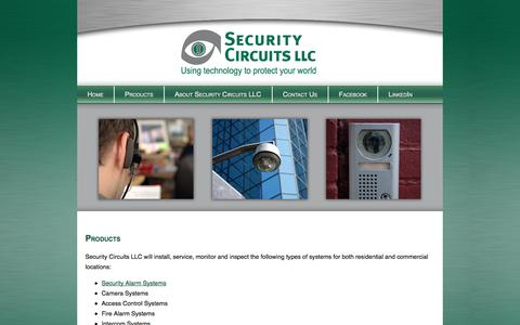 Screenshot of Products Page security-circuits.com - Products - captured Sept. 26, 2014