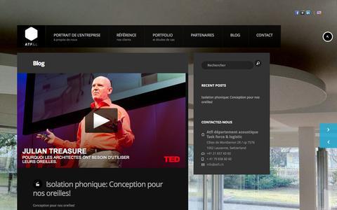 Screenshot of Blog atfl.ch - Blog - Montages Acoustique - captured Sept. 30, 2014