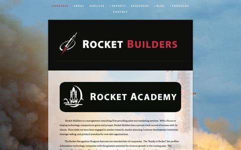 Screenshot of Home Page rocketbuilders.com - Rocket Builders - captured Oct. 9, 2014