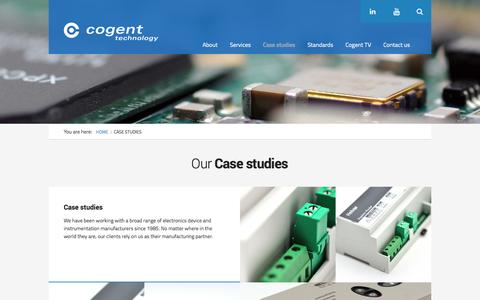Screenshot of Case Studies Page cogent-technology.co.uk - Case studies | Cogent Technology - captured Sept. 30, 2014
