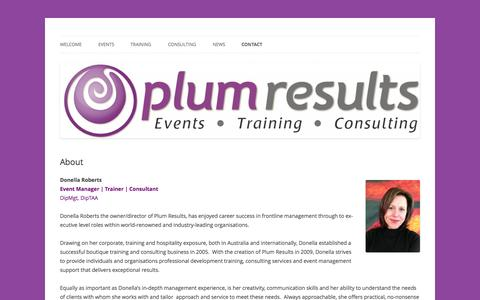 Screenshot of About Page plumresults.com.au - About | Plum Results - captured Sept. 30, 2014