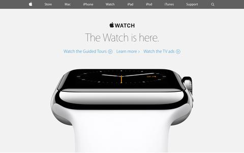 Screenshot of Home Page apple.com - Apple - captured May 6, 2015