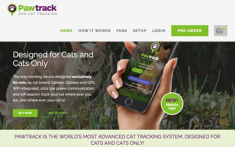 Screenshot of Home Page pawtrack.com - Home new - Pawtrack - captured July 16, 2018
