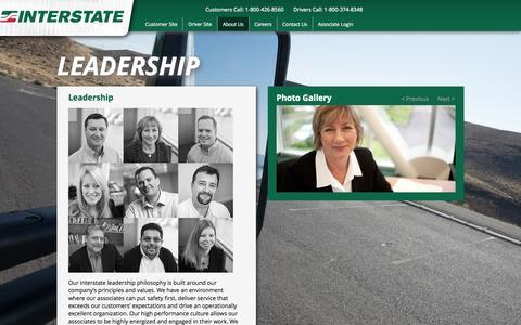 Screenshot of Team Page intd.com - Leadership - Interstate Distributor Co. | Interstate Distributor Co. - captured Oct. 6, 2014