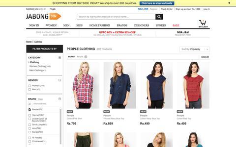 Screenshot of Team Page jabong.com - People Clothing - Buy People Clothing for Men, Women, Kids Online   Jabong.com - captured Sept. 16, 2014