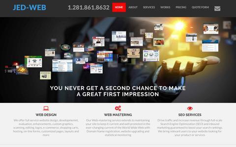 Screenshot of Home Page jed-web.com - JED-WEB Website Design Developer and SEO Services - captured Nov. 18, 2016