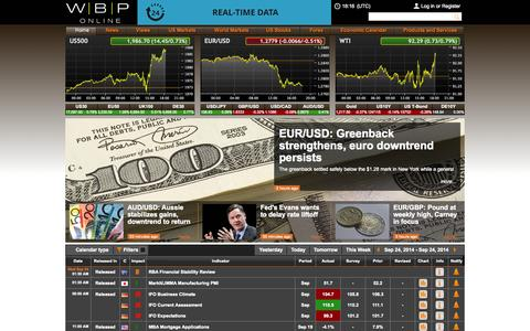 Screenshot of Home Page wbponline.com - WBP Online - Stock Market Today, Financial News, Forex News - captured Sept. 24, 2014