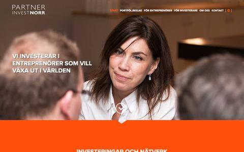 Screenshot of Home Page partnerinvestnorr.se - Partnerinvest Norr - captured Dec. 7, 2015