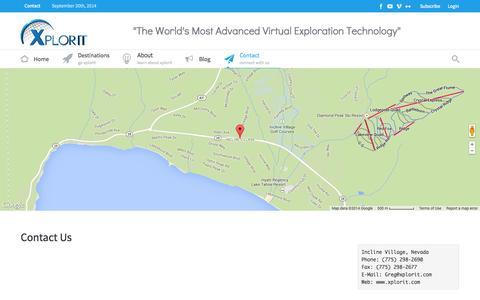 Screenshot of Contact Page xplorit.com - Contact - Xplorit - captured Sept. 30, 2014