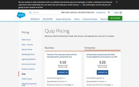 Screenshot of Pricing Page salesforce.com - Editions & Pricing - Service Cloud Lightning - Salesforce - captured Dec. 22, 2018
