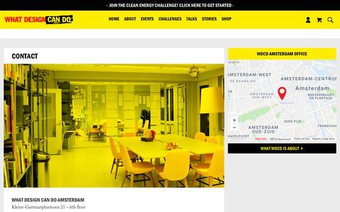 Screenshot of Contact Page whatdesigncando.com - Contact - What Design Can Do - captured Sept. 20, 2018