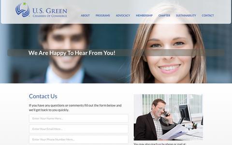 Screenshot of Contact Page usgreenchamber.com - U.S. Green Chamber of Commerce - captured Nov. 15, 2016