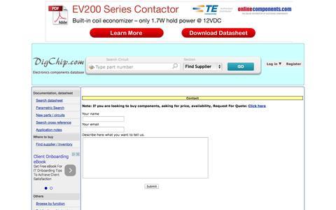 Screenshot of Contact Page digchip.com - Contact - captured Nov. 1, 2014
