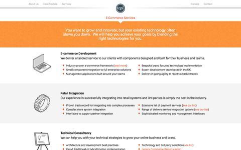 Screenshot of Services Page tcpl-e.com - E-commerce services - captured Dec. 3, 2016