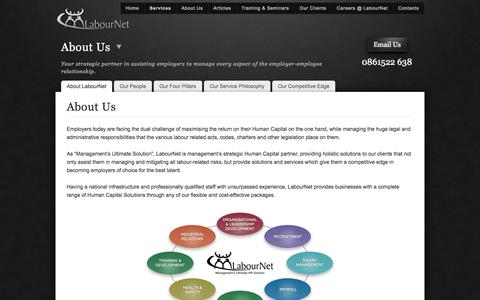 Screenshot of About Page labournet.com - LabourNet > About Us | Complete Range of Human Capital Solutions - captured Sept. 24, 2014