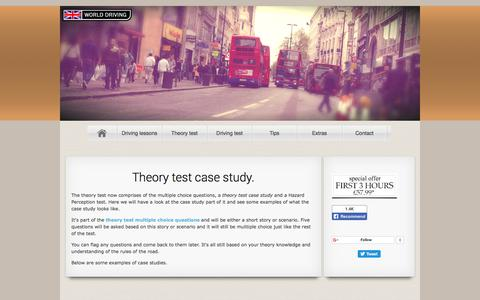 Screenshot of Case Studies Page driving-school-beckenham.co.uk - Driving Theory Test Case Study | World Driving - captured Sept. 22, 2018