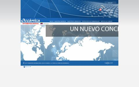 Screenshot of Home Page logicaoceanica.com - :: OCEÁNICA INTERNACIONAL :: - captured Oct. 3, 2014