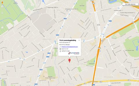 Screenshot of Maps & Directions Page tilia-levensbegeleiding.be captured Sept. 30, 2014