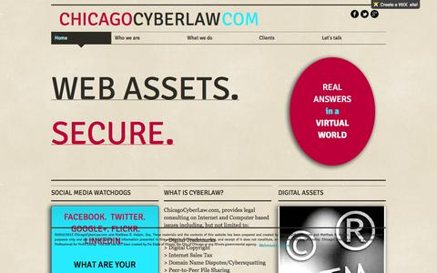Screenshot of Home Page chicagocyberlaw.com - Matthew R Halpin ChicagoCyberLaw - captured Sept. 29, 2014