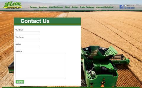 Screenshot of Contact Page mcleanimp.com - Contact Us - captured Oct. 27, 2014