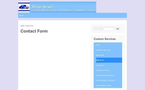 Screenshot of Contact Page drive-israel.com - Contact Form | Drive Israel - captured April 12, 2016