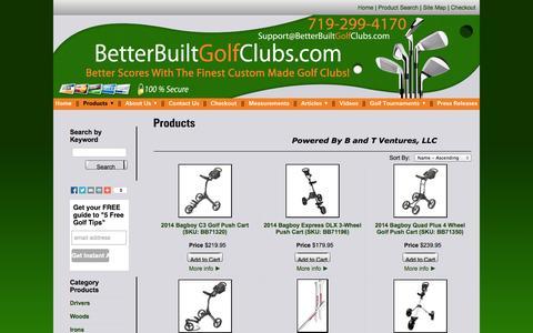 Screenshot of Products Page betterbuiltgolfclubs.com - Custom Golf Clubs Online - Betterbuiltgolfclubs.com - captured Oct. 5, 2014