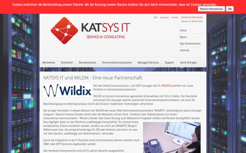Screenshot of Press Page katsys-it.at - katsys-it.at - News - captured Oct. 15, 2018