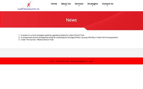 Screenshot of Press Page genelifecr.com - News - Genelife Clinical Research Pvt. Ltd. - captured July 5, 2017