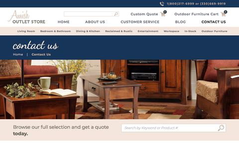 Screenshot of Contact Page amishoutletstore.com - Contact Us   Amish Furniture Outlet   Up to 33% Off - captured July 30, 2018