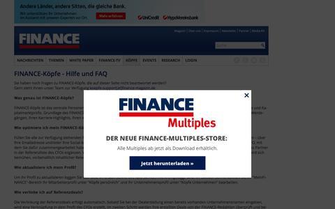 Hilfe und FAQ-FINANCE Magazin-FINANCE Köpfe